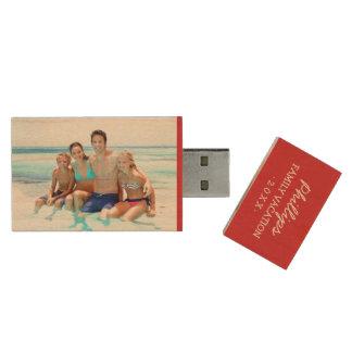 Memoria USB de encargo del monograma de la foto de Pen Drive De Madera USB 2.0