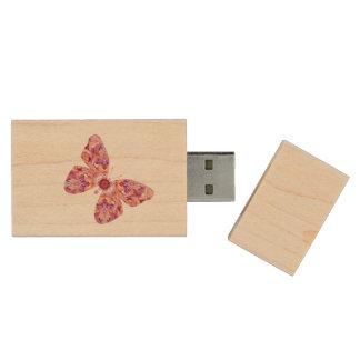 Memoria USB de la mariposa del caleidoscopio Memoria USB 2.0 De Madera