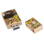 Memoria USB de madera de BUTTERzine USB 2,0 Memoria USB 2.0 De Madera