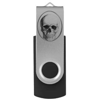 Memoria USB del círculo del cráneo Pen Drive Giratorio USB 2.0
