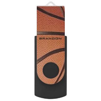 Memoria USB del diseño del baloncesto Pen Drive Giratorio USB 2.0