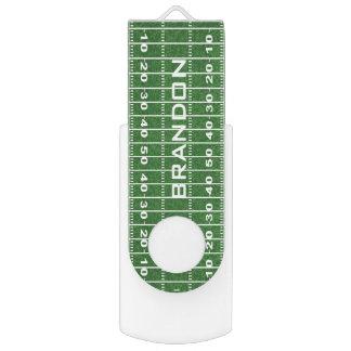 Memoria USB del diseño del campo de fútbol