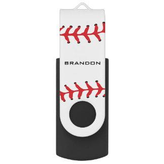 Memoria USB del diseño del softball del béisbol Pen Drive Giratorio USB 2.0