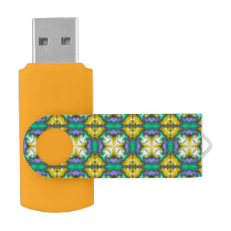 Memoria USB del extracto del amarillo del verde