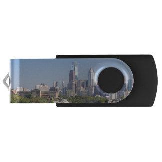 Memoria USB del horizonte de Philadelphia Memoria USB 2.0 Giratoria