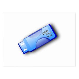 Memoria USB del ordenador Tarjeta Postal