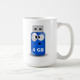 Memoria USB del ordenador Taza Básica Blanca