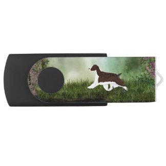 Memoria USB del perro de aguas de saltador inglés Memoria USB 2.0 Giratoria