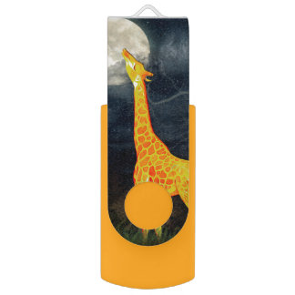 Memoria USB del wivel de la jirafa y de la luna el