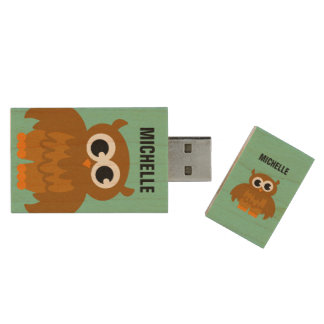 Memoria USB pendrive de USB del dibujo animado Memoria USB 2.0 De Madera