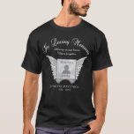 "Memorial | Add Photo T-Shirt<br><div class=""desc"">Add a photo to this memorial tshirt with angel wings.</div>"