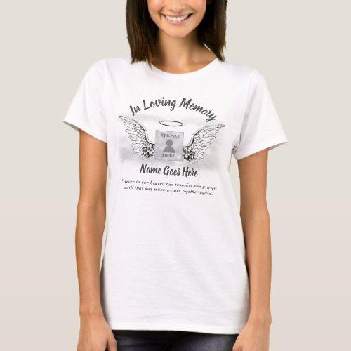 Memorial  Angel Wings Photo T_Shirt