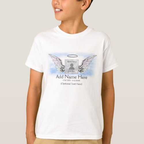 Memorial  Angel Wings T_Shirt