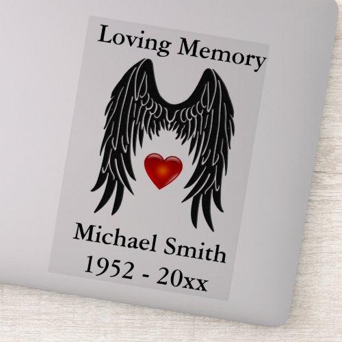 Memorial Angel Wings Vinyl Car Decal Window