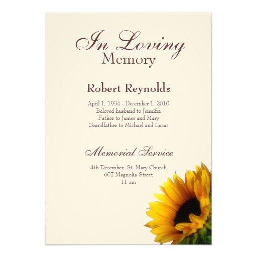 Memorial Service Invitation Template – Memorial Service Invitation Template