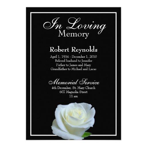 Personalized In Memoriam Invitations   CustomInvitations4U.com