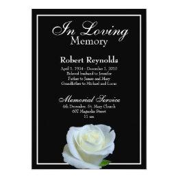 Death invitations announcements zazzle memorial announcement stopboris Gallery