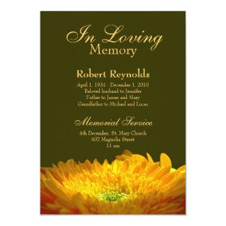 "Memorial / Announcement 5"" X 7"" Invitation Card"