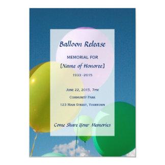 Memorial Balloon Release Card