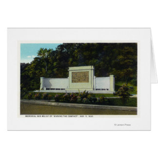 Memorial Bas Relief of the Compact Signing Card