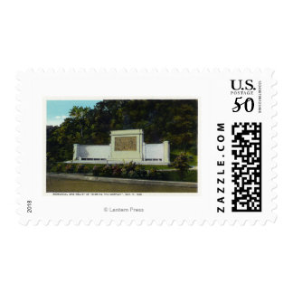 Memorial Bas Relief of the Compact Signing Postage