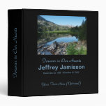 Memorial Book, Reflection in Lake Binder