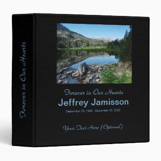 Memorial Book Reflection in Lake 3 Ring Binders