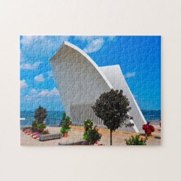 USA Themed Memorial Building Staten Island New York. Jigsaw Puzzle