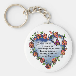 Memorial Butterfly Poem Keychain