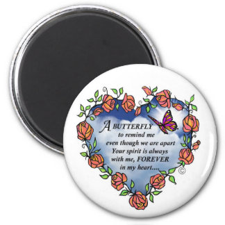 Memorial Butterfly Poem Magnet