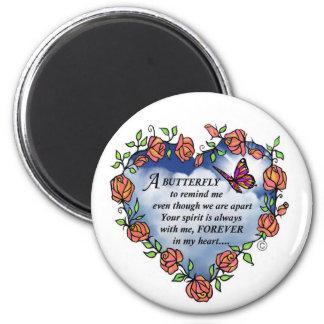 Memorial Butterfly Poem Fridge Magnet