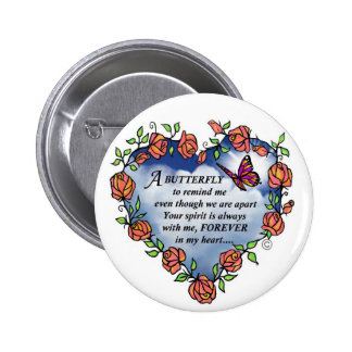 Memorial Butterfly Poem Pinback Button