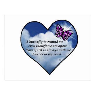 Memorial Butterfly Poem Post Card