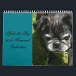 """Memorial Calendar<br><div class=""""desc"""">Spike the Pug 2016 Memorial Calendar</div>"""