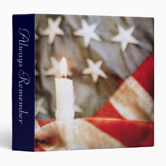 "Memorial Candle 1.5"" Photo Album 3 Ring Binder"