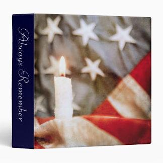 "Memorial Candle 1.5"" Photo Album Vinyl Binder"