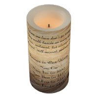 Memorial Candle Light Brown Stone Those We Love