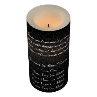 Memorial Candle Rustic Black Burlap Those We Love