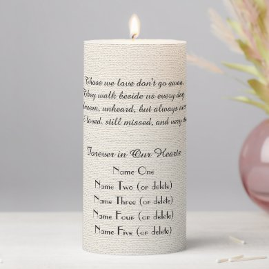 Memorial Candle Rustic Off White Those We Love