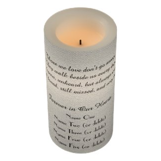 Memorial Candle Rustic Off White Those We Love LED