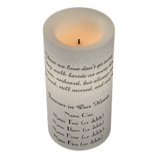 Memorial Candle Rustic Off White Those We Love LED Flameless Candle