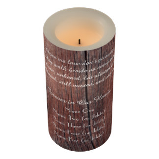 Memorial Candle Rustic Red Barn Those We Love LED