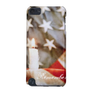 Memorial Candle with Flag iPod Touch Case
