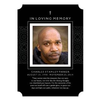"Memorial Card - Cross - Thank You Sympathy Back 5"" X 7"" Invitation Card"