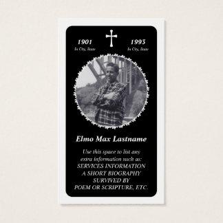 memorial card : elegant cross