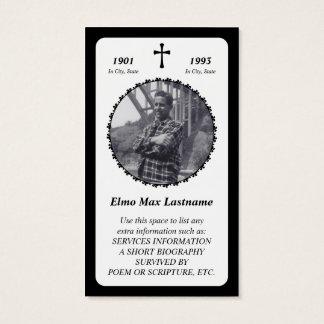 memorial card . elegant cross