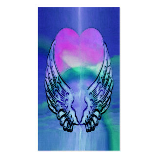 Memorial Card | Heart and Angel Wings Business Card