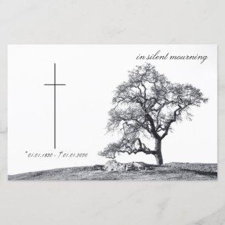Memorial Card in silent...