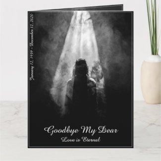 Memorial Card Into the light - goodbye my dear