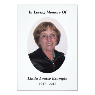 memorial card custom invitation